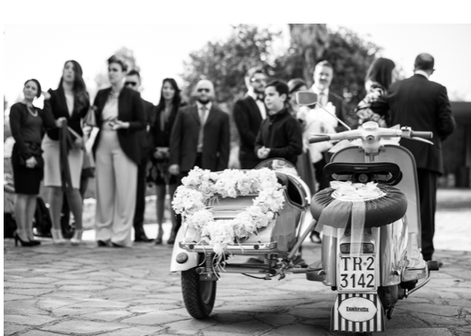 matrimonio in sidecar